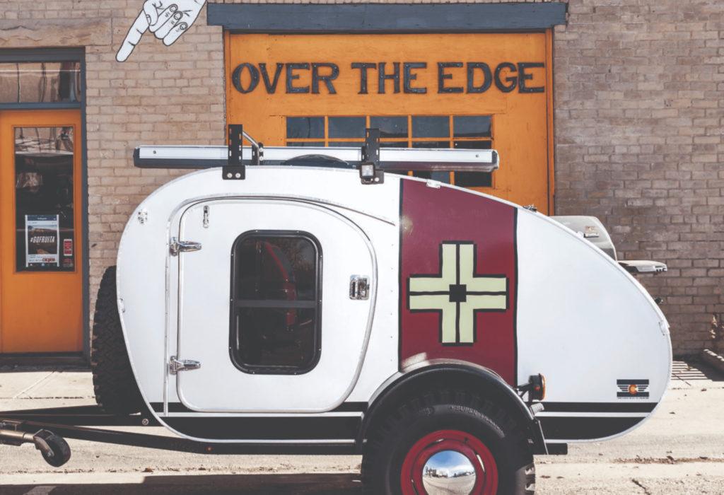 profile of Vintage Overland trailer