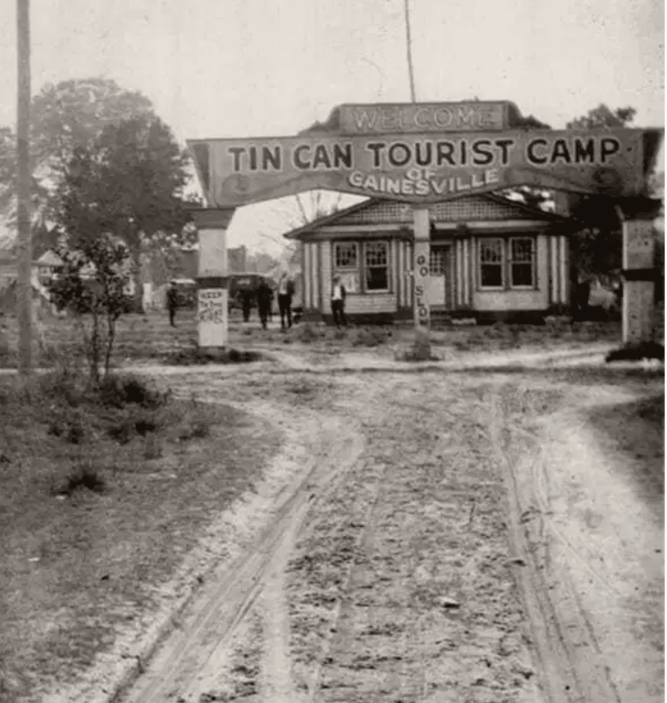 Image of Tin Can Tourist Camp Gainesville Florida 1919
