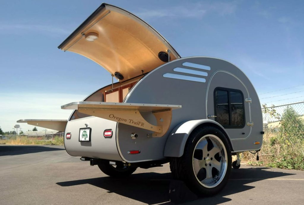 Oregon teardrop trailer exterior