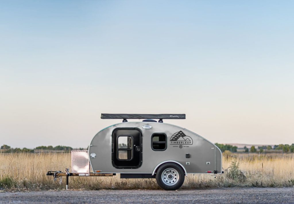 light grey camper