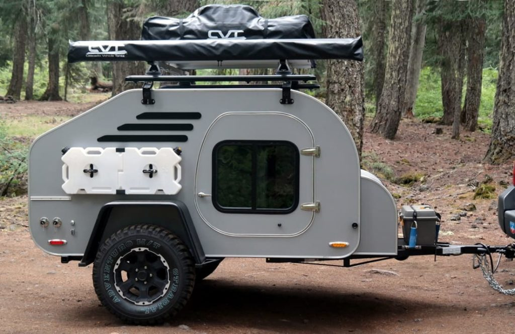 camper with roof rack system