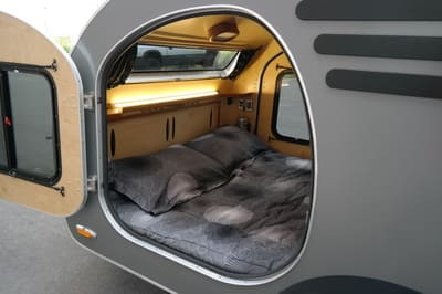 cabin of camper showing skylight