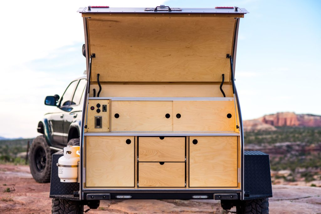 Rear view of storage cabinet option