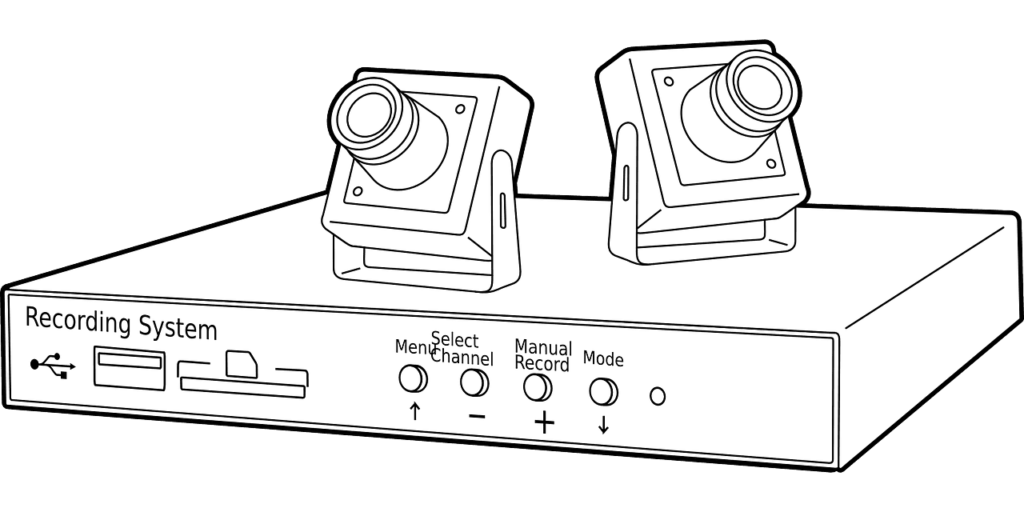 graphic image of two cameras and recording system
