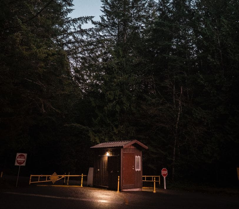 Ranger's station at night