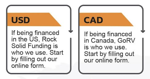 Image of financing options for US and Canada