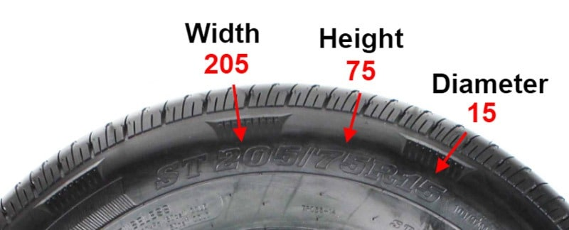 Tire Size Example