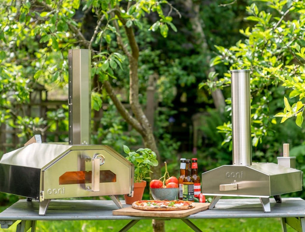 Tabletop showing Ooni portable pizza ovens