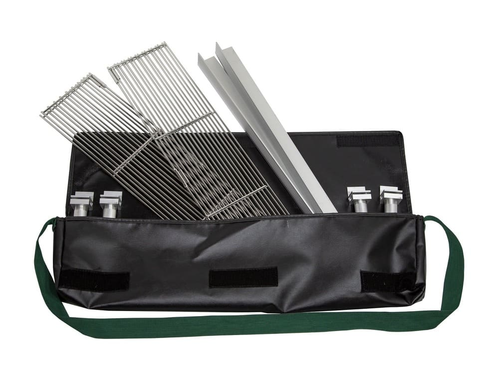 Grill grate in carrying case