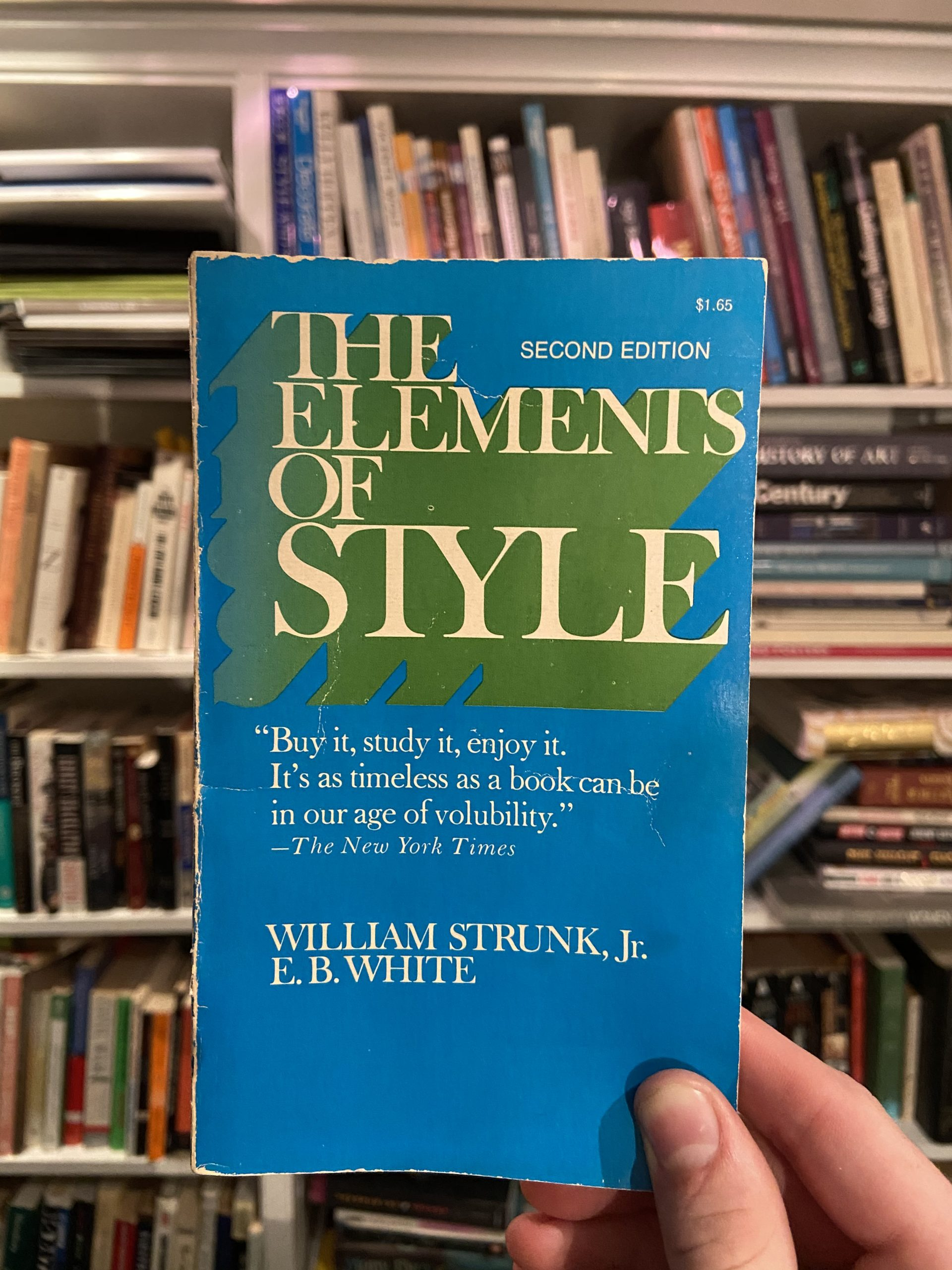 Personal, worn copy of William Shrunk / EB White Elements of Style