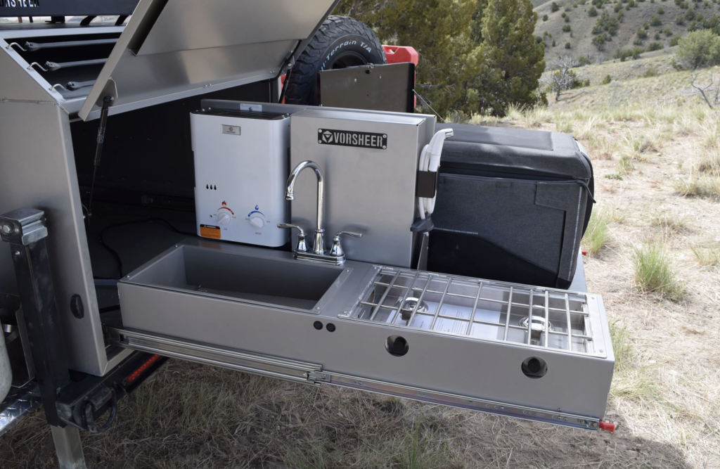 slide out sink on XER trailer